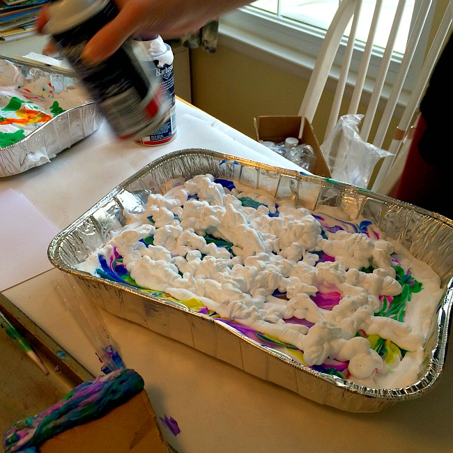 messy play date make marbled paper