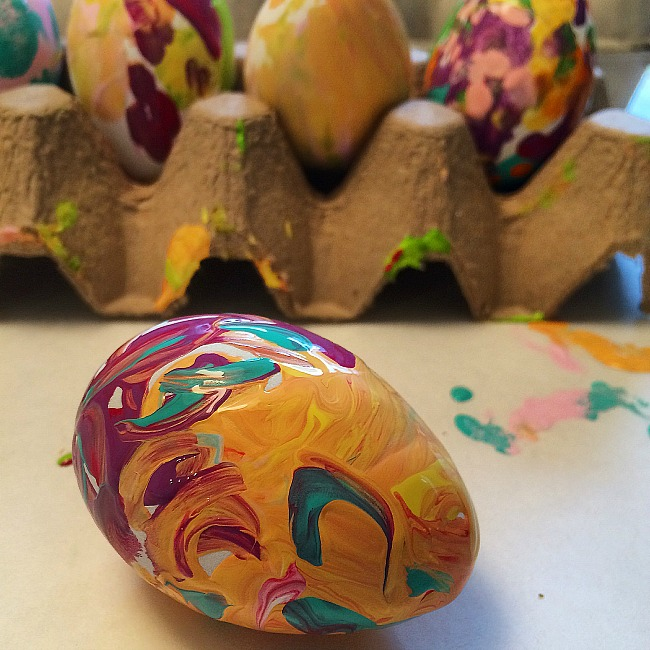 easy painted easter egg crafts for kids
