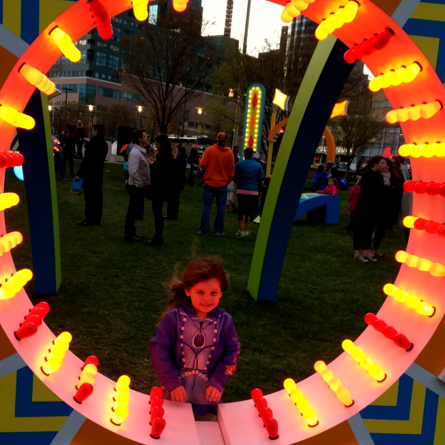 light city with kids