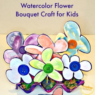 watercolor flower crafts for kids