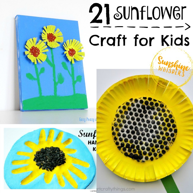 21 of the Happiest Sunflower Crafts for Kids!