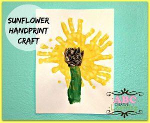 Sunflower-Handprint-Craft2 abc creative learning