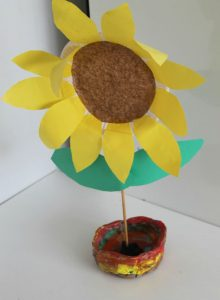 paperplatesunflower in the playroom