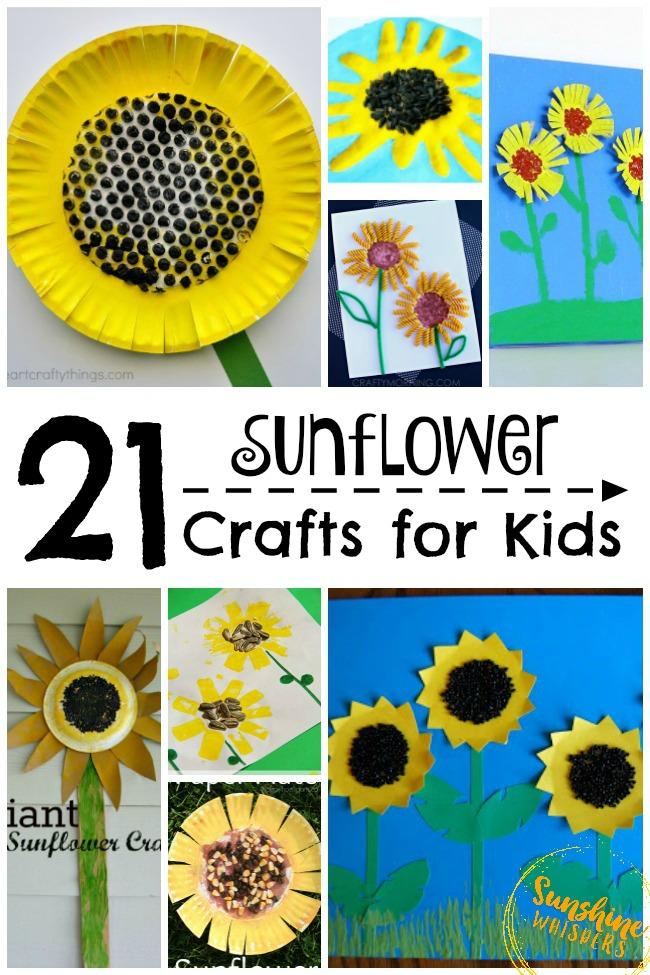 sunflower crafts for kids