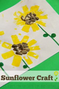 sunflower craft+coffee cups and crayons