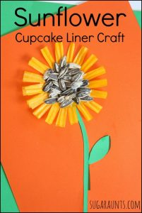 sunflower cupcake liner craft sugar aunts