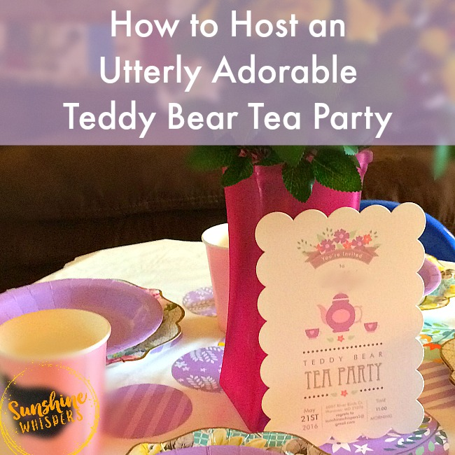 How to Host an Utterly Adorable Teddy Bear Tea Party