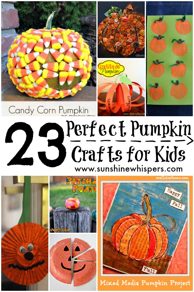 It is a picture of Eloquent Pumpkin Crafts for Toddlers