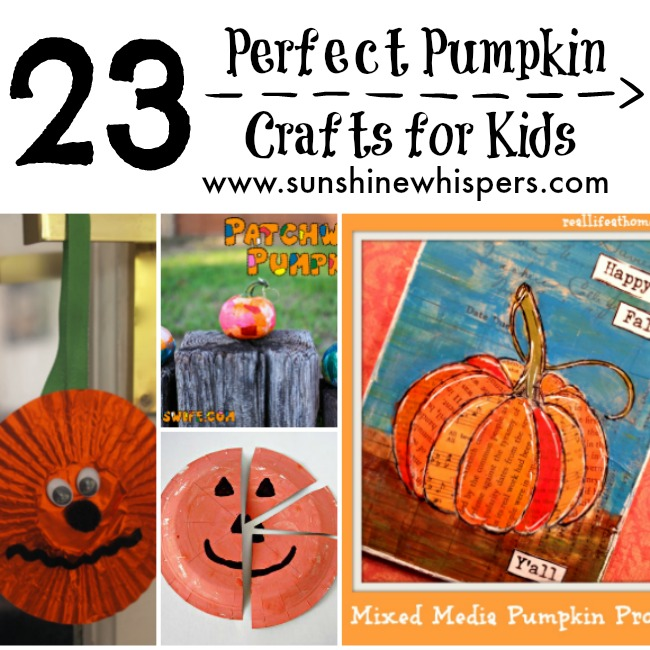 23 Perfect Pumpkin Crafts for Kids!