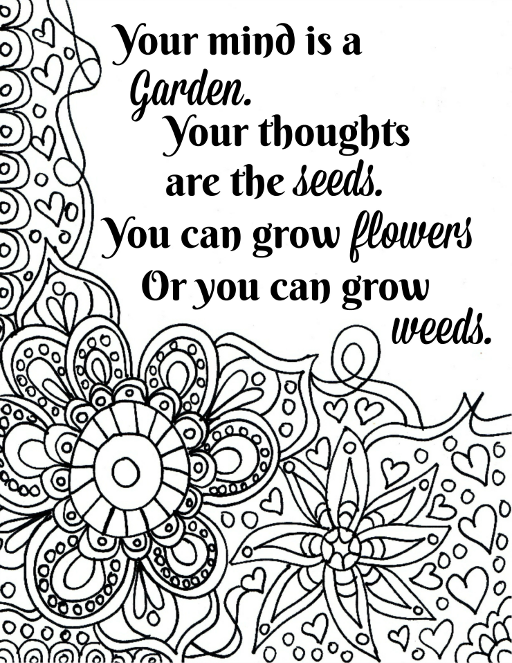 Free Printable Flower Quote Coloring Pages