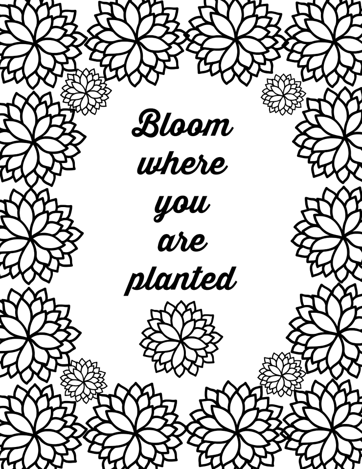 inspirational flower coloring pages - photo#23