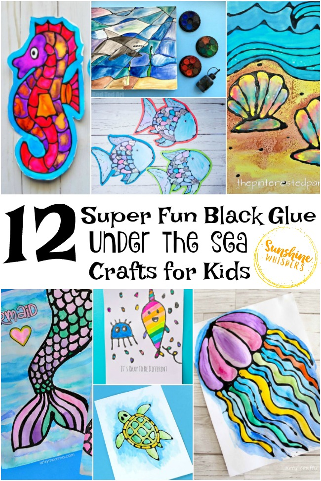 black glue under the sea crafts