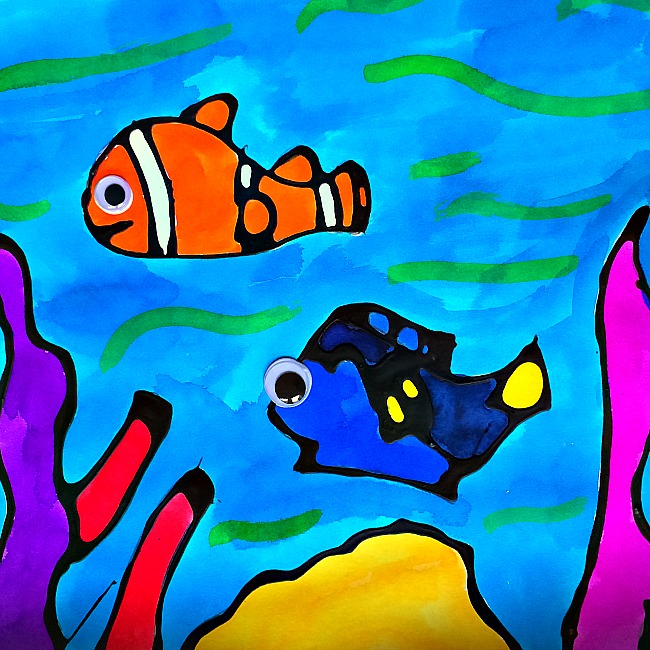 Black glue dory and nemo craft