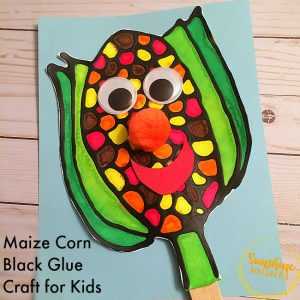 black glue crafts for kids