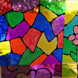 stained glass window craft