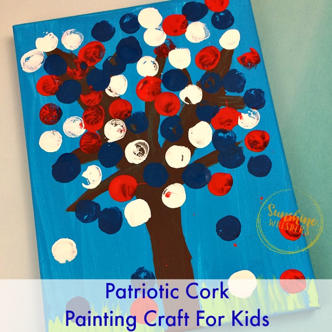 patriotic cork painting craft for kids
