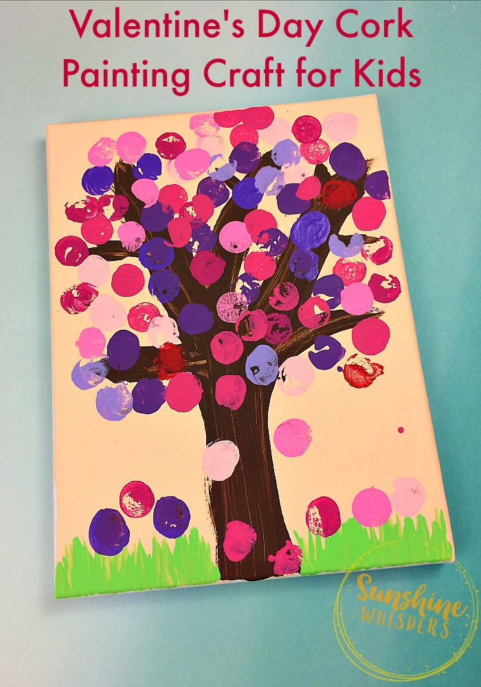 cork painting crafts for kids