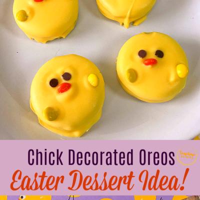 Baby Chick Themed Oreos Easter Dessert Idea!