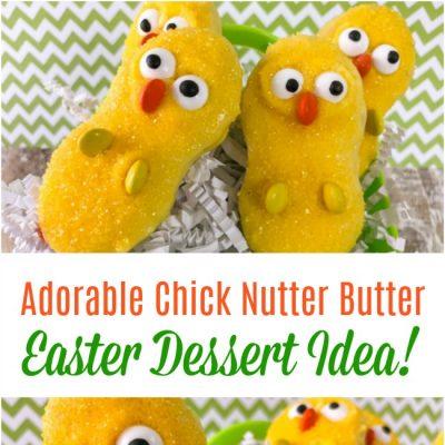 Adorable Chick Nutter Butter Easter Dessert Idea