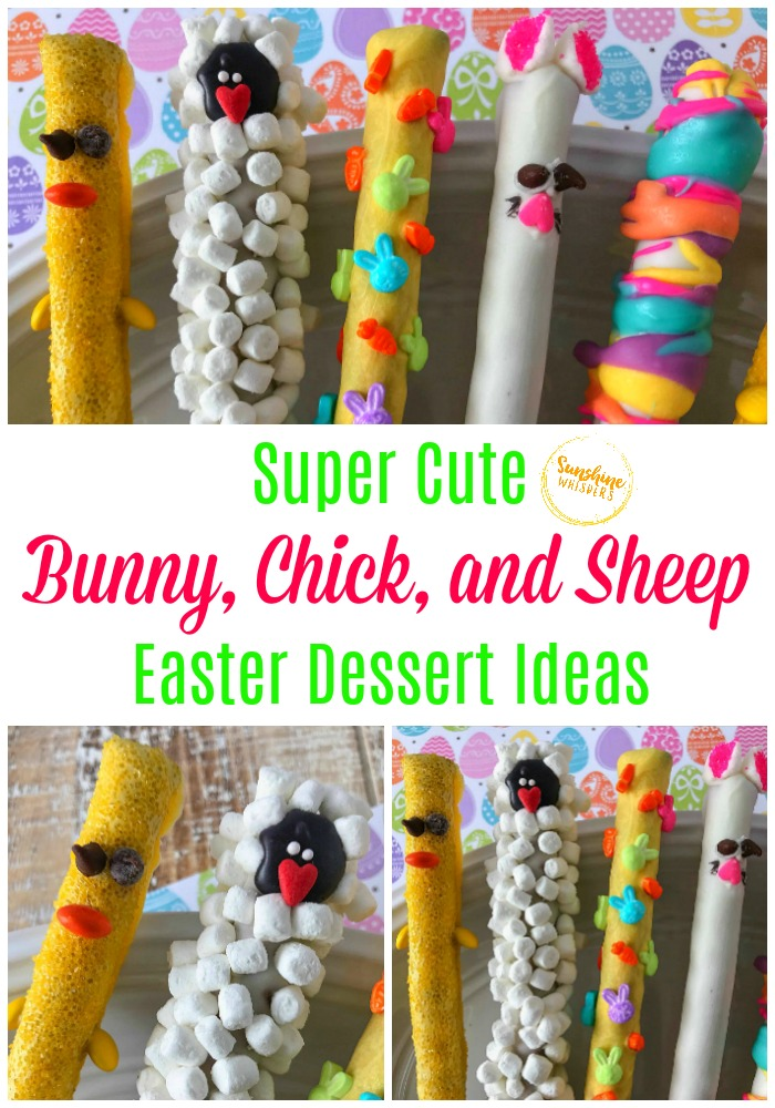 bunny chick and sheep easter dessert ideas
