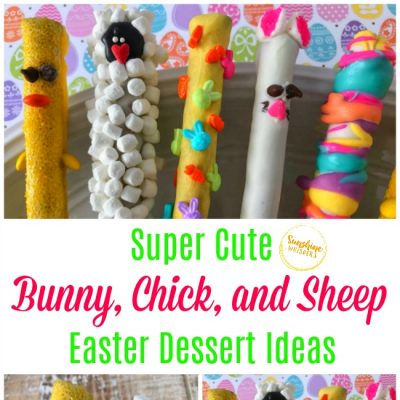 Super Cute Bunny, Chick, and Sheep Easter Dessert Ideas!