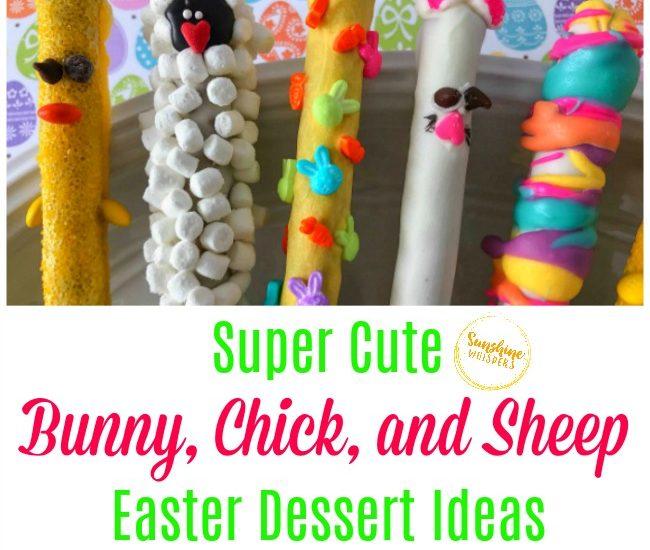 bunny chick sheep easter dessert ideas