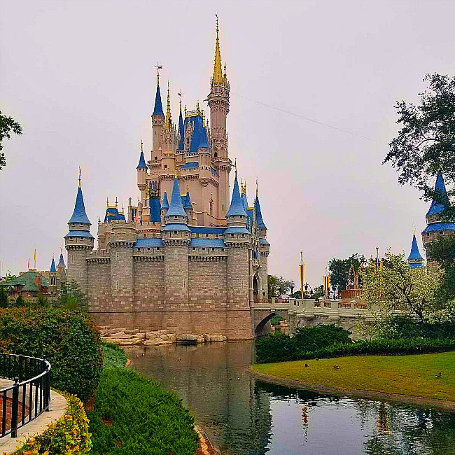 back of cinderella castle