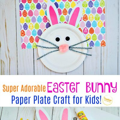 Super Adorable Easter Bunny Paper Plate Craft For Kids