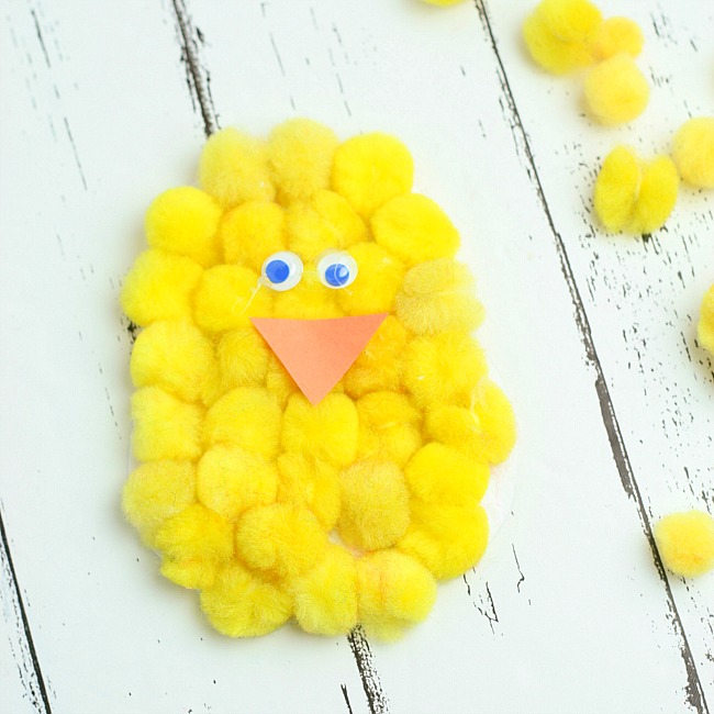 hatching chick paper plate craft for kids