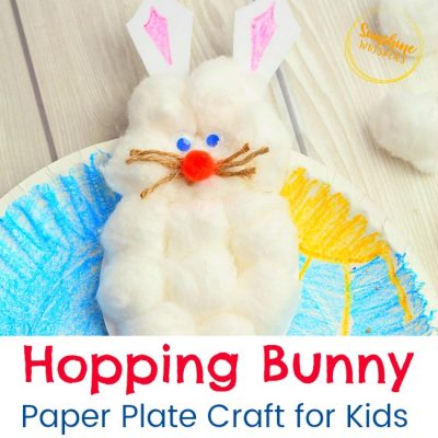 Hopping Bunny Paper Plate Craft For Kids