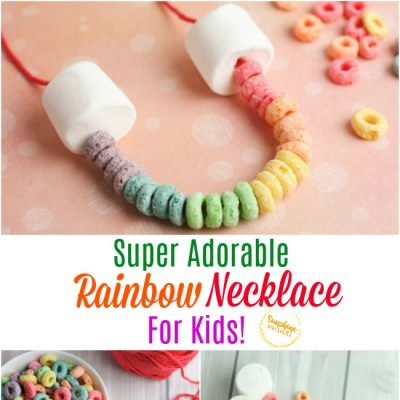 Super Adorable Cereal and Marshmallow Rainbow Necklace!