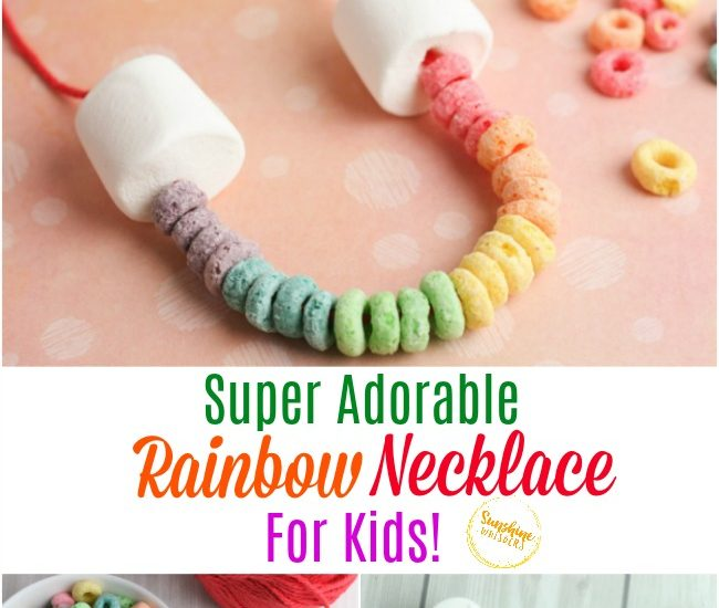 rainbow necklace for kids