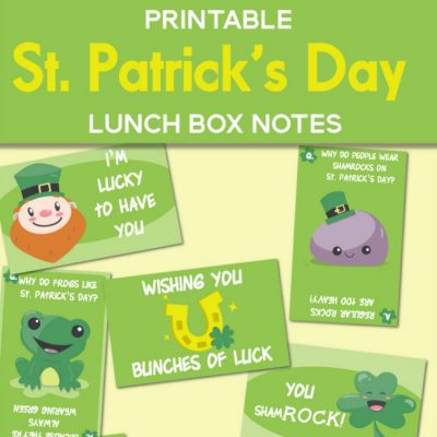 St. Patrick's Day Lunch Box Notes Printable