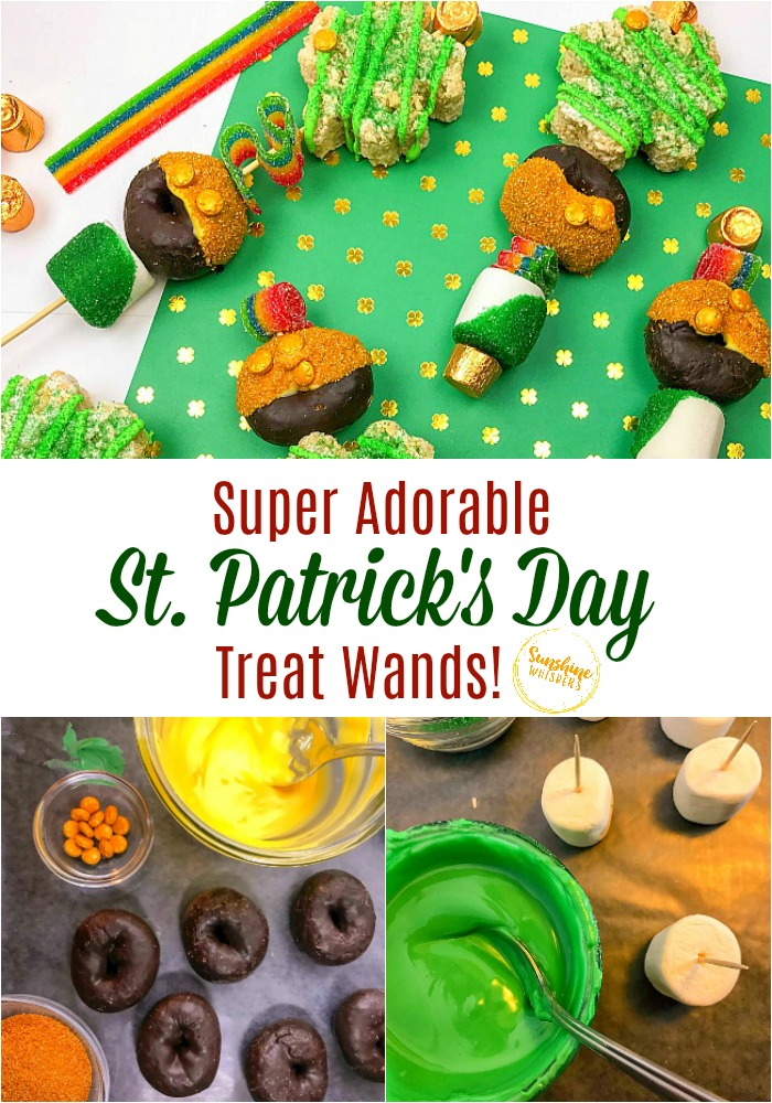 st patricks day treat wands