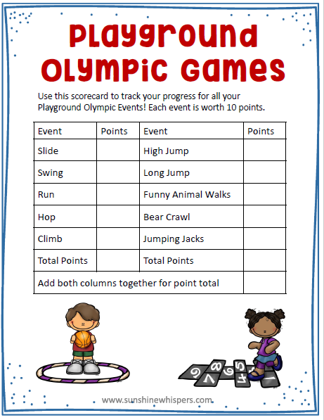 playground olympics
