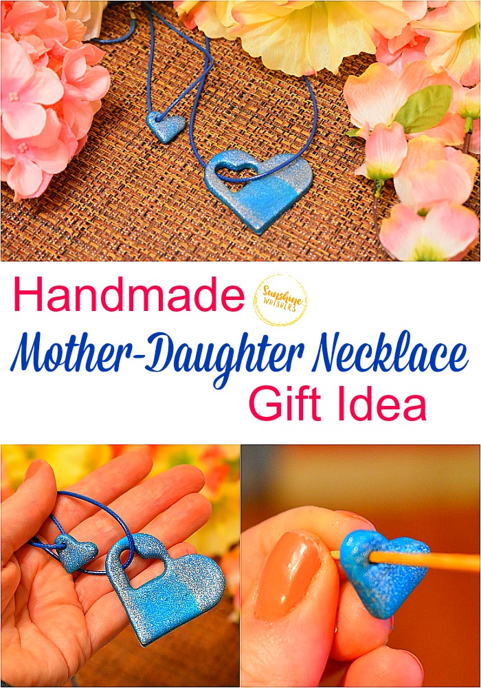 handmade mother daughter necklace gift idea