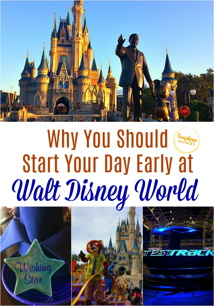 start your day early at disney world