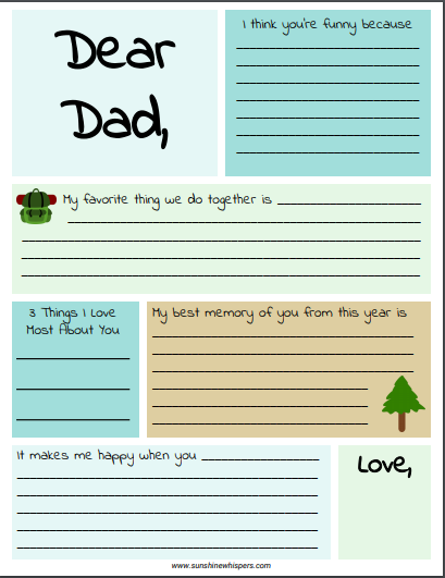 image regarding The Father's Love Letter Printable identified as Free of charge Printable Fathers Working day Reserve For Youngsters Towards Create