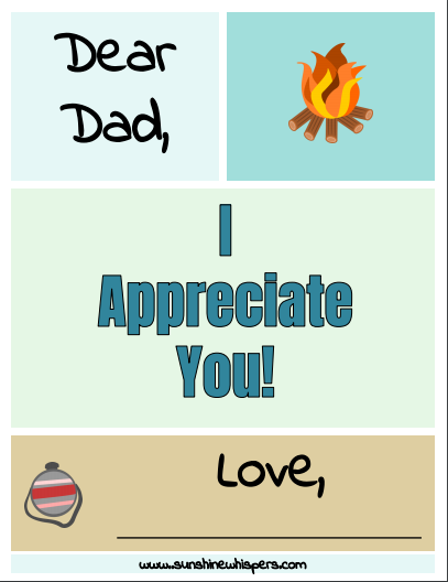 free printable father's day book for kids to make