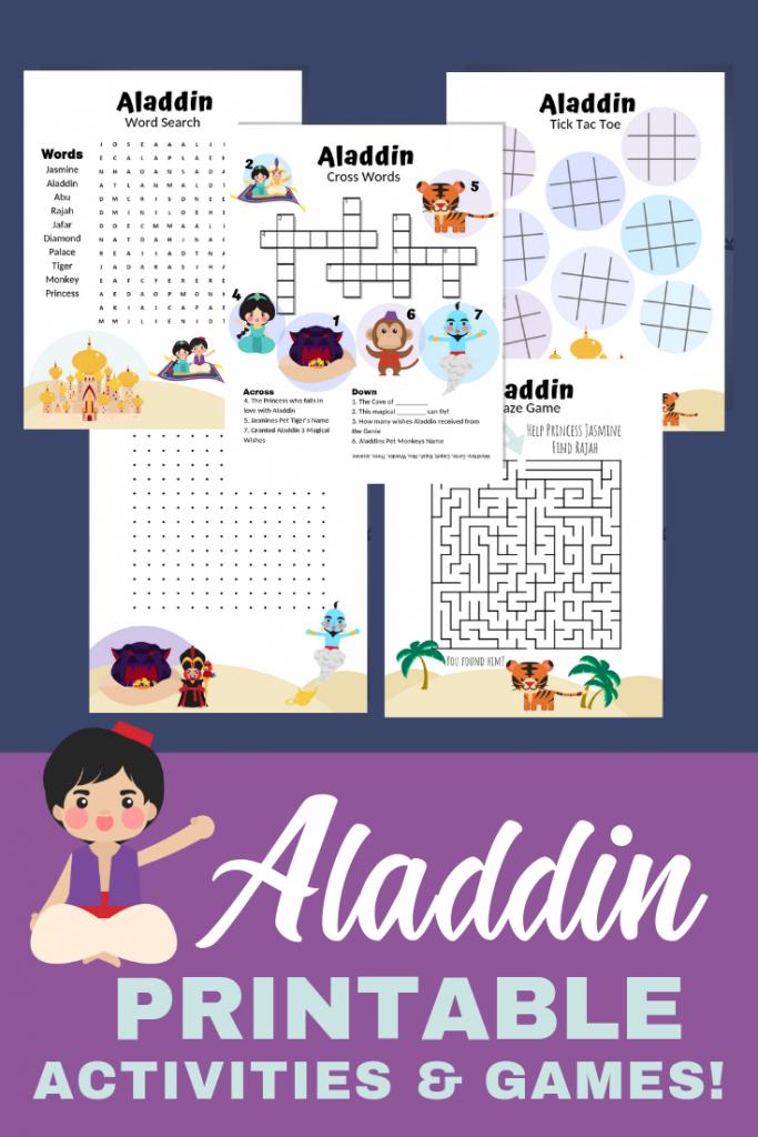 Aladdin Activity Printable Pack