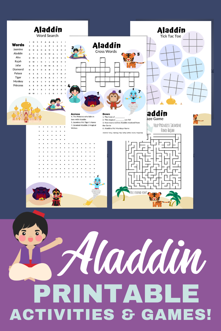 photograph relating to Printable Kids Games named Tremendous Exciting Aladdin Printable Actions Pack For Youngsters