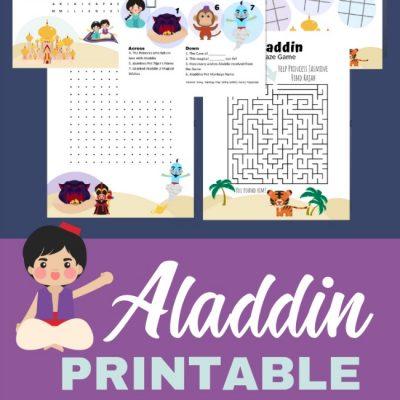 aladdin printable activity pack