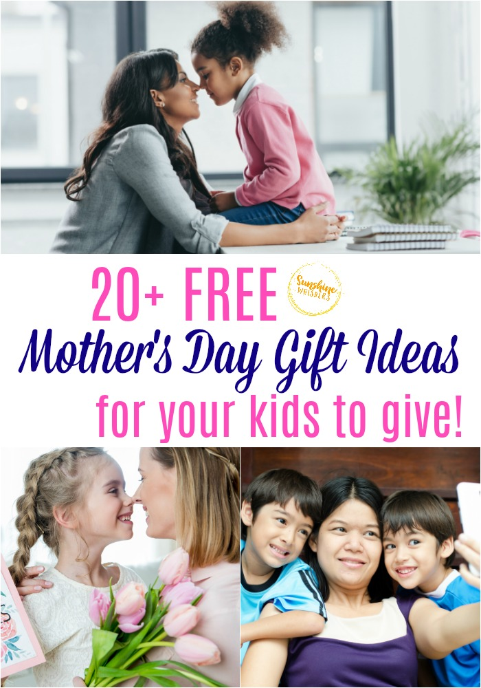 20 Free Mother S Day Gift Ideas For Kids To Give Printable Included