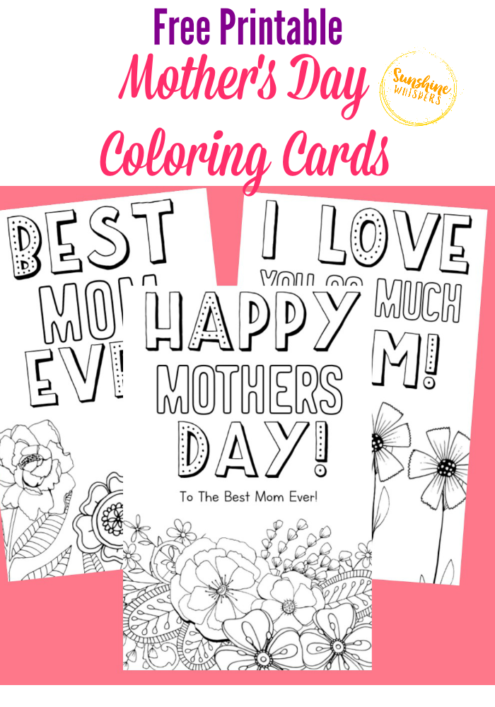 picture relating to Printable Mothers Day Cards to Color identified as Absolutely free Printable Moms Working day Coloring Playing cards