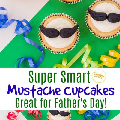 Super Smart Mustache Cupcakes Great For Father's Day!