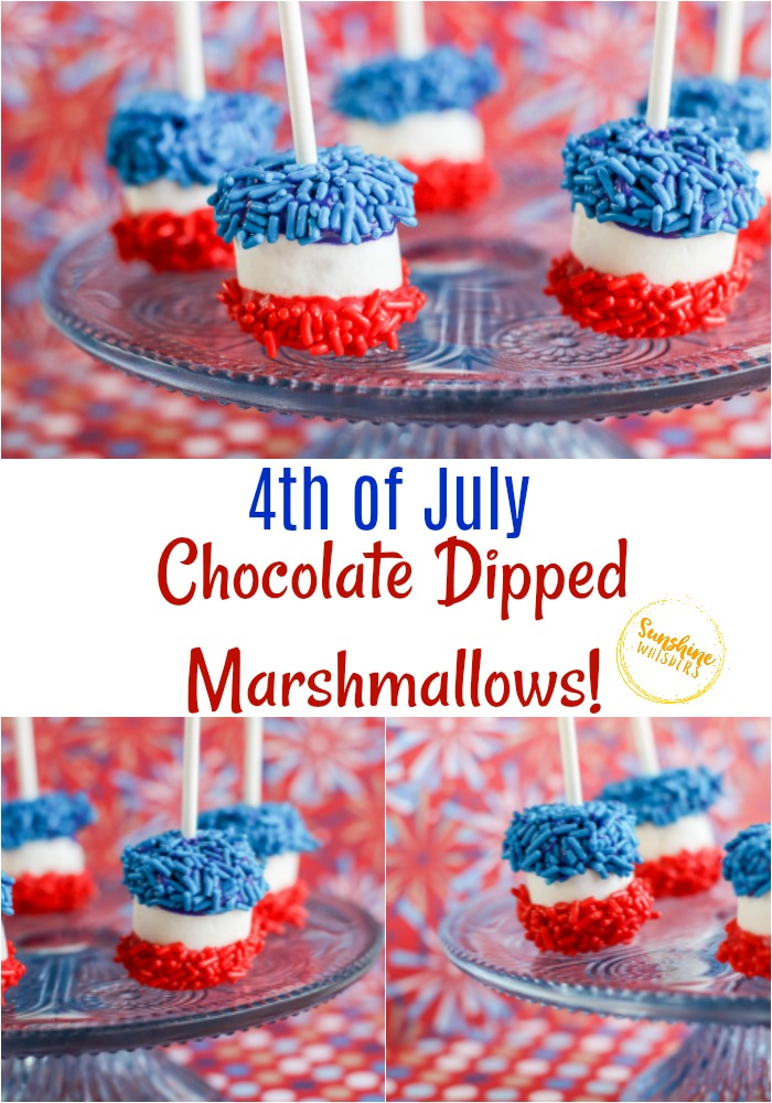 patriotic chocolate dipped marshmallows