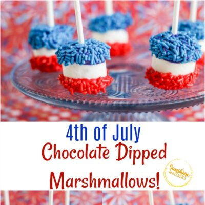 4th of July Chocolate Dipped Marshmallows