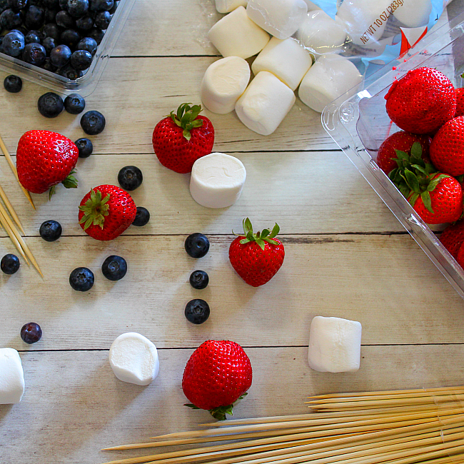 fruit and marshmallows