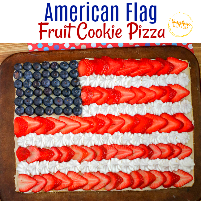 American Flag Fruit Cookie Pizza