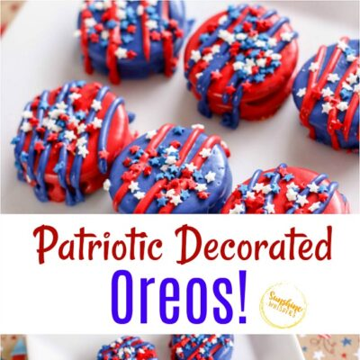 Patriotic Decorated Oreos Perfect For Your Summer Cookout!